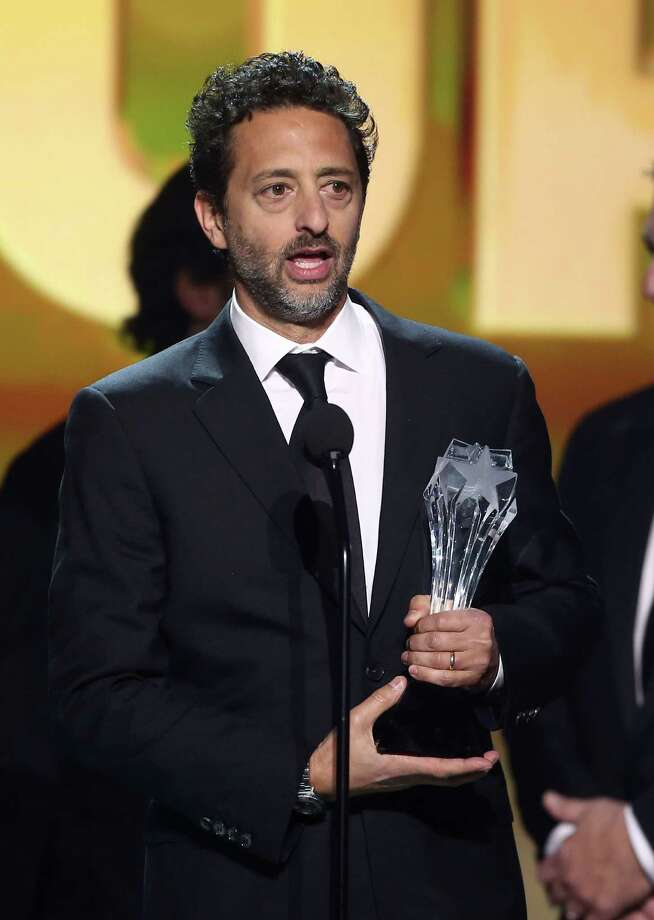 "Grant Heslov accepts the award for best picture for ""Argo."" Photo: Matt Sayles/Invision/AP"