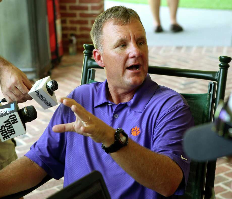 Success story - Chad Morris: Clemson offensive coordinator (Austin Lake Travis H.S.) — Having Tajh Boyd at quarterback has enabled Morris to build an offensive machine and become the highest-paid assistant in college football only three years removed from winning back-to-back Texas state championships.(AP Photo/The Independent-Mail, Mark Crammer) Photo: Mark Crammer, Associated Press / The Independent-Mail