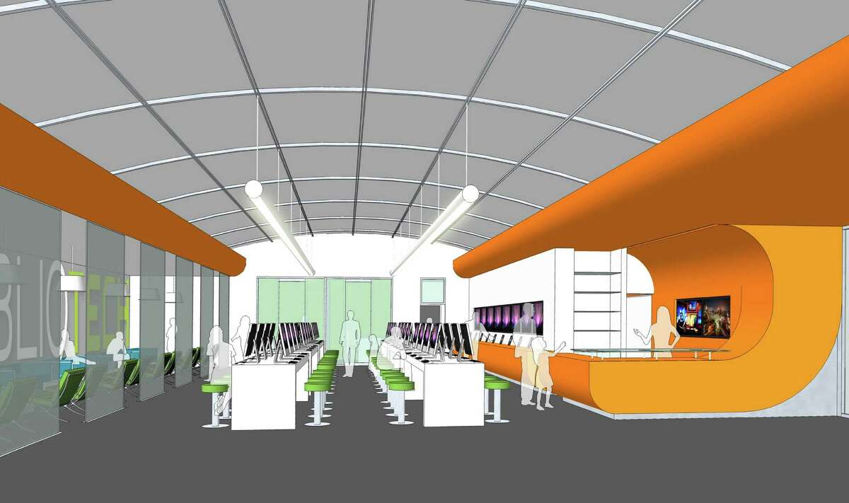 Interior view of BiblioTech, a bookless library planned for 3505 PleasantonRoad. Bexar County plans to open the library in the fall.