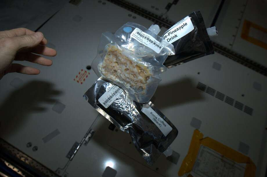 Hadfield Tweeted a photo of his breakfast of corn flakes, juice and coffee.