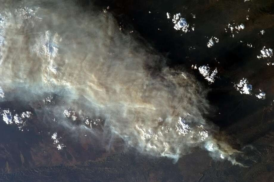 This photo shows a view of the wildfires in Australia. Photo: Chris Hadfield, Associated Press / NASA