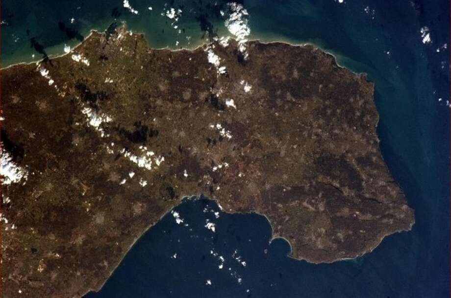 The heel of the boot of Italy as seen from the International Space Station on Jan. 7.