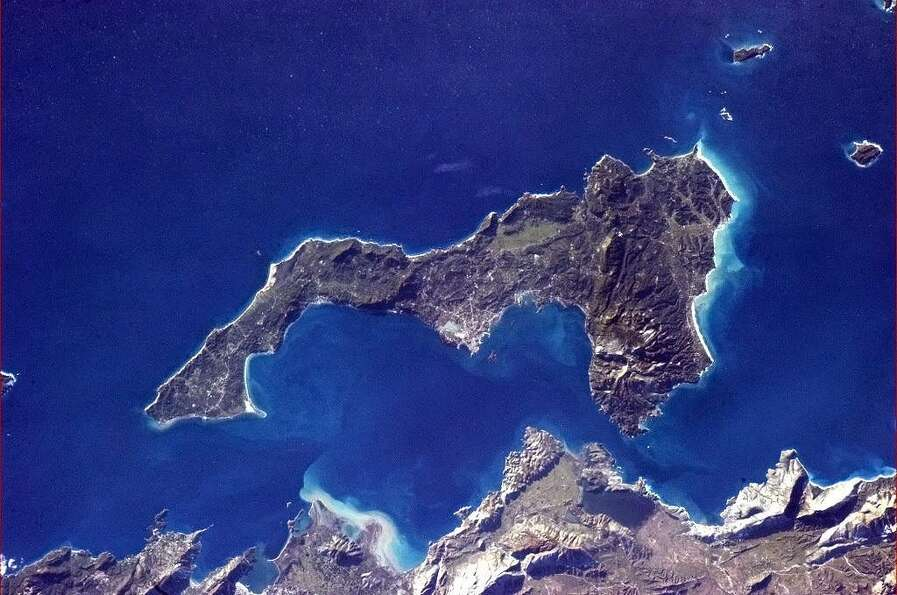 This photo shows the Greek Island of Corfu.