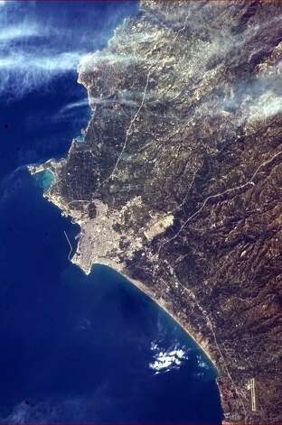 Hadfield says this photo shows Latakia, Syria. Photo: Cmd. Chris Hadfield, Associated Press / The Canadian Press via NASA,Chri