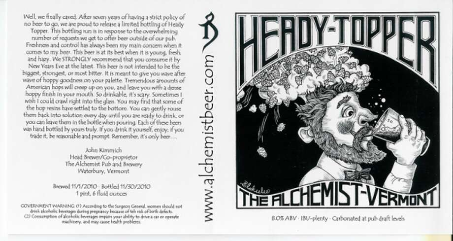"""ALCHEMIST HEADY TOPPER. The brew from Waterbury, Vt., is tops at Beer Advocate. It's described as the """"Tom Brady of hoppy beers,"""" which might mean that it will help you father a lot of children. Brady has three. (BeerTX blog)"""