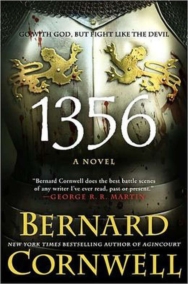 "Bernard Cornwell with a fictional adaptation of another Hundred Years battle, the one on Sept. 19, 1356, near Poitiers, south of Paris, for his latest novel, ""1356."""