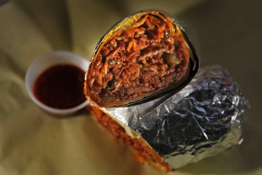 Kimchi burrito.