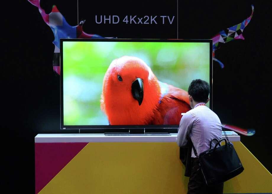 UHD 4Kx2K TV at the TCL booth. Photo: JOE KLAMAR, AFP/Getty Images / AFP