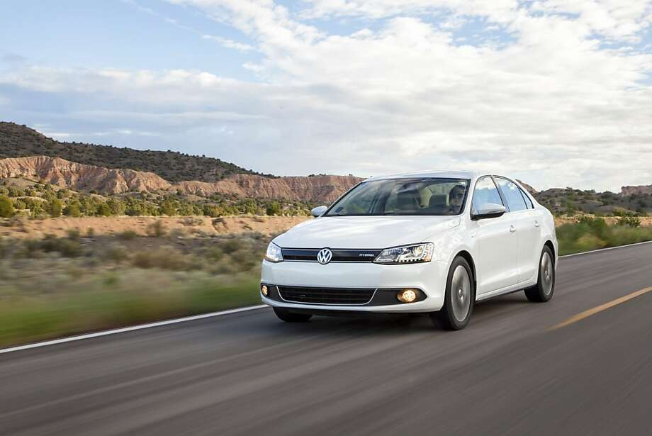 The Jetta Hybrid retains the same aerodynamic, ageless styling as the rest of the Jetta lineup. There are subtle differences, however, such as the blue-highlighted VW logo, hybrid badging, uniquely designed wheels and front grille. Photo: Volkswagen