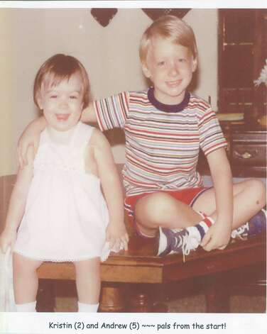 1982 photo -- Kristin (2) and Andrew (5) were pals from the beginning. Parents Susan and Trip Brotherman enjoyed capturing these happy times. Photo: Susan Brotherman, Reader Submiss