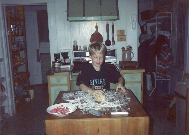 David Cotrell, 4, makes Christmas cookies in the kitchen of his home on W. Craig Place in San Antonio, December 1988.