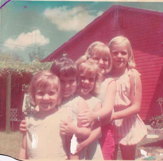 This is a photo of my sister and my cousins in 1966. We are (left to right), me, Teresa, Suzy, Debby