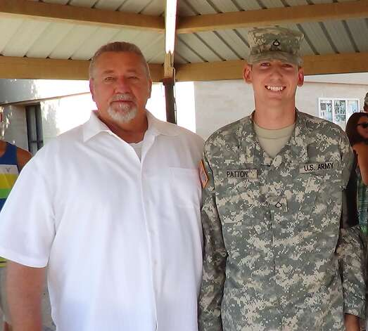 1SG RET Paul Patton and PFC Daniel Patton, Fort Sam Houston, 2012. Photo: Patton, Reader Submission