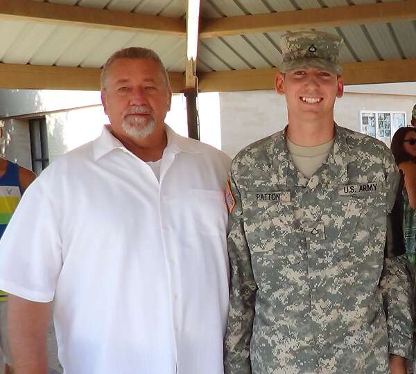 1SG RET Paul Patton and PFC Daniel Patton, Fort Sam Houston, 2012.