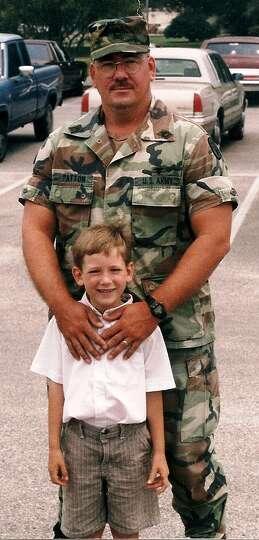 1SG RET Paul Patton and PFC Daniel Patton, Fort Sam Houston, 1997