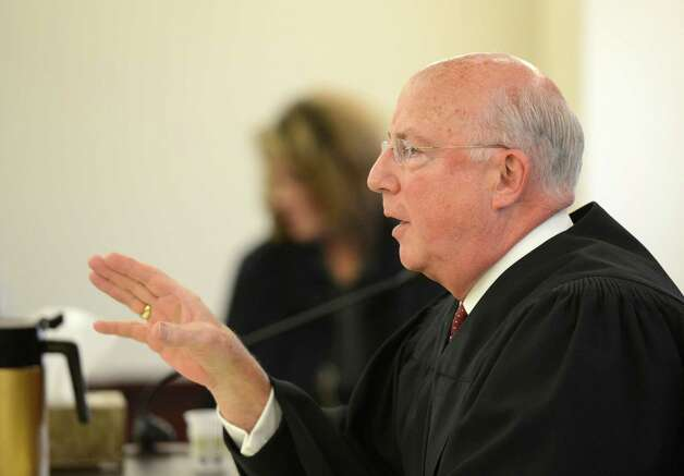 Judge Stephen Herrick speaks during sentencing of LuAnn Burgess Friday morning, Jan. 11, 2013, at the Albany County Courthouse in Albany, N.Y.   Burgess pled guilty to three counts of criminally negligent homicide and agreed to never drive again.    (Skip Dickstein/Times Union) Photo: SKIP DICKSTEIN / 00020706A