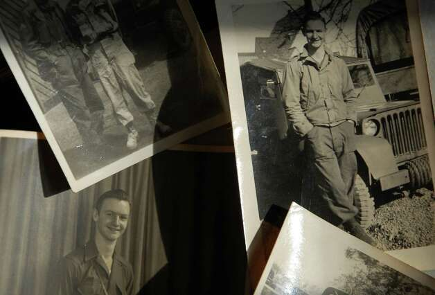 Some photos of Glenn Benton when he served in the Army during World War II. Benton was born in Fairfield in 1924 and has lived in town his entire life. Fairfield CT 1/10/13 Photo: Jarret Liotta / Fairfield Citizen contributed