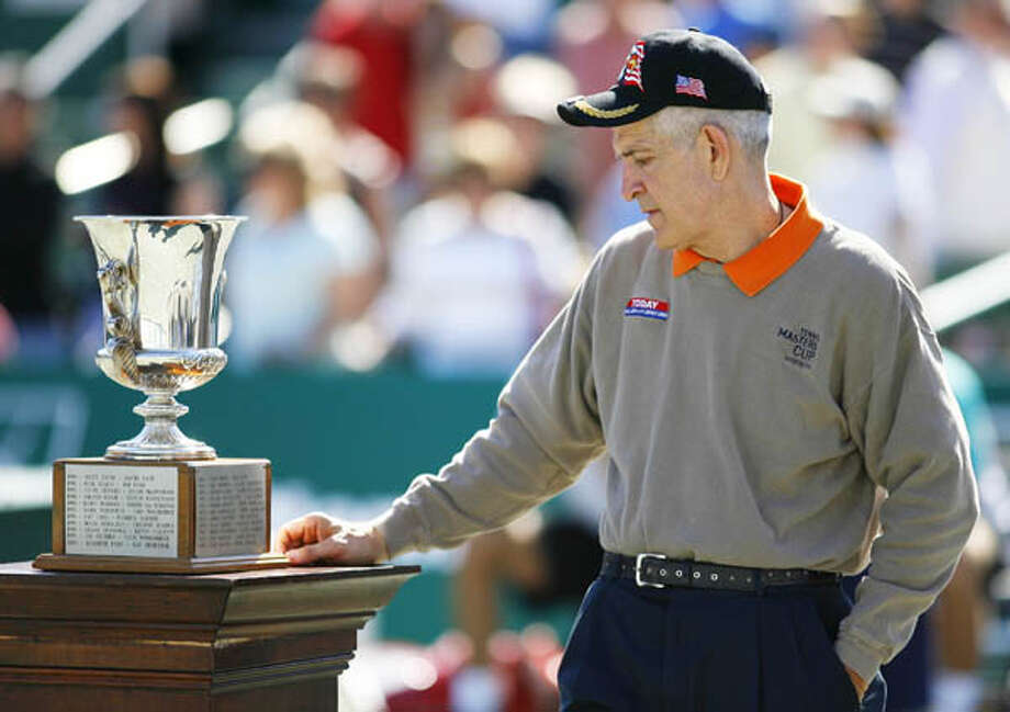 Jim McIngvale at the trophy presentation April 15, 2007, following the doubles finals of the U.S. Men's Clay Courts Championships at the Westside Tennis Club. Related story. Photo: Steve Ueckert, . / Houston Chronicle