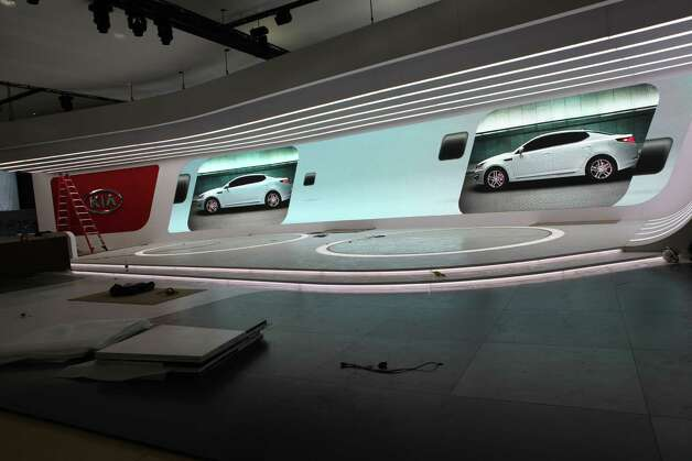 Preparations begin for the 2013 North American Auto Show in Detroit. The show opens January 19th and will showcase cars from all over the globe. Photo: NAIAS / Copyright:David Freers Photography, LLC