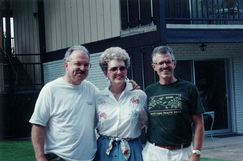 Me and my cousins at a family reunion in Salado, Tex., 1993. Ted Pool, Maurene Miller Fadal, Dick Du