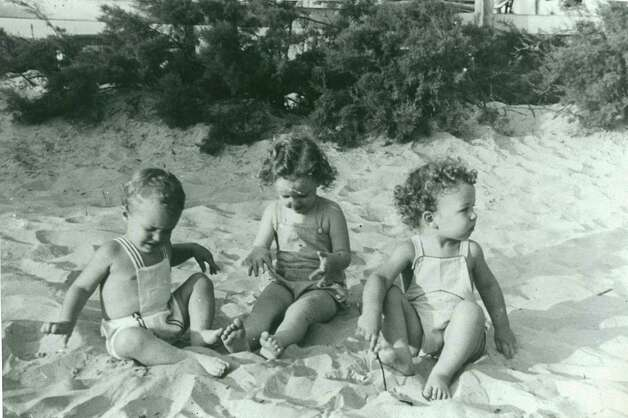 Me with my cousins on Galveston Beach, 1941. Dick Dunlap, Maurene Miller and Ted Pool.