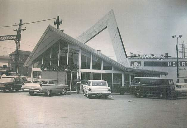 A photograph from the collection of architect Mark Halstead shows Juniorís Drive-In, in Bridgeport, which Victor Civkin designed in 1959. Since demolished, Junior's was just one of the local landmarks designed by Victor Civkin. Photo: Contributed Photo