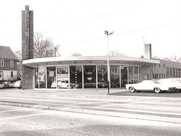 A photograph from the collection of architect Mark Halstead shows Miller Buick, in Fairfield, which Victor Civkin designed in 1954. It was just one of the local landmarks designed by Victor Civkin. Photo: Contributed Photo