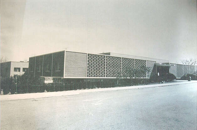 A photograph from the collection of architect Mark Halstead shows the Jewish Community Center, in Bridgeport, which Victor Civkin designed in 1961. It is just one of the local landmarks designed by Victor Civkin. Photo: Contributed Photo