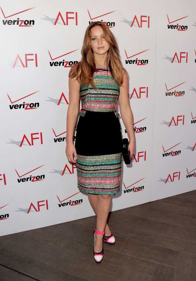 Actress Jennifer Lawrence attends the 13th Annual AFI Awards at Four Seasons Los Angeles at Beverly Hills on January 11, 2013 in Beverly Hills, California. Photo: Kevin Winter, Getty Images / 2013 Getty Images