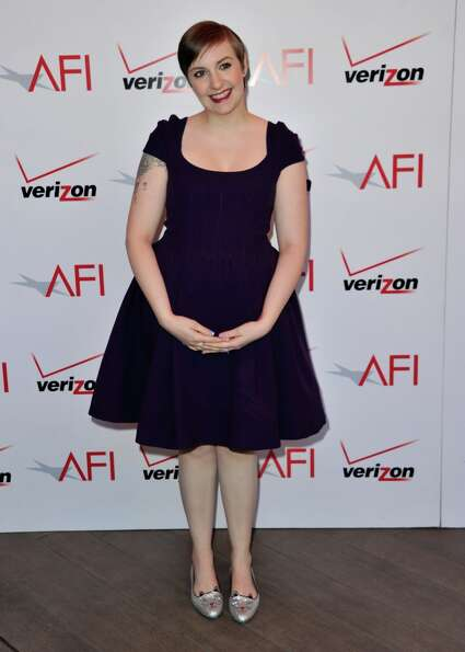 Writer/actress Lena Dunham attends the 13th Annual AFI Awards at Four Seasons Los Angeles at Beverly