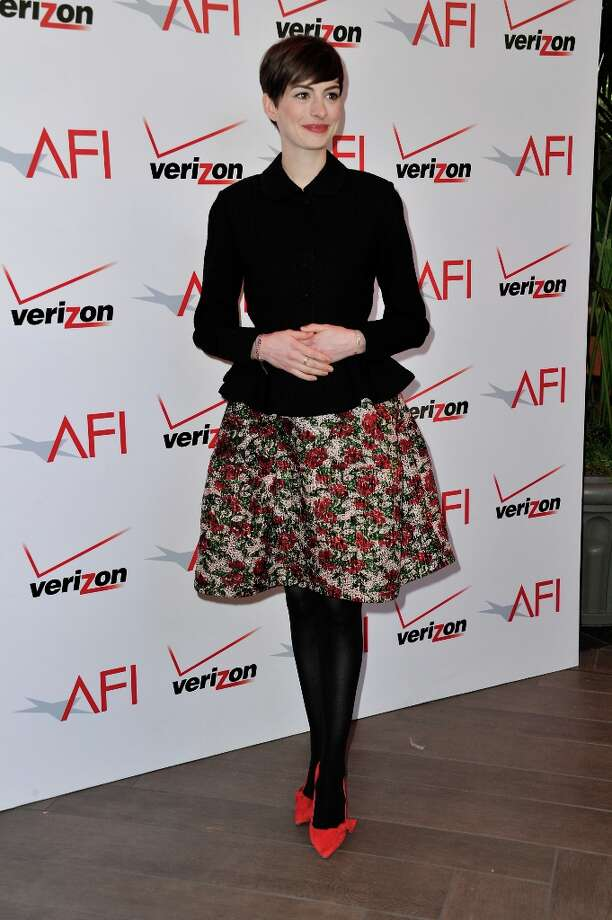 Actress Anne Hathaway attends the 13th Annual AFI Awards at Four Seasons Los Angeles at Beverly Hills on January 11, 2013 in Beverly Hills, California. Photo: Alberto E. Rodriguez, Getty Images / 2013 Getty Images