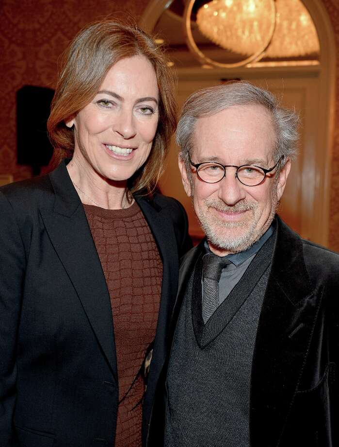 Directors Kathryn Bigelow and Steven Spielberg attend the 13th Annual AFI Awards at Four Seasons Los Angeles at Beverly Hills on January 11, 2013 in Beverly Hills, California. Photo: Frazer Harrison, Getty Images / 2013 Getty Images