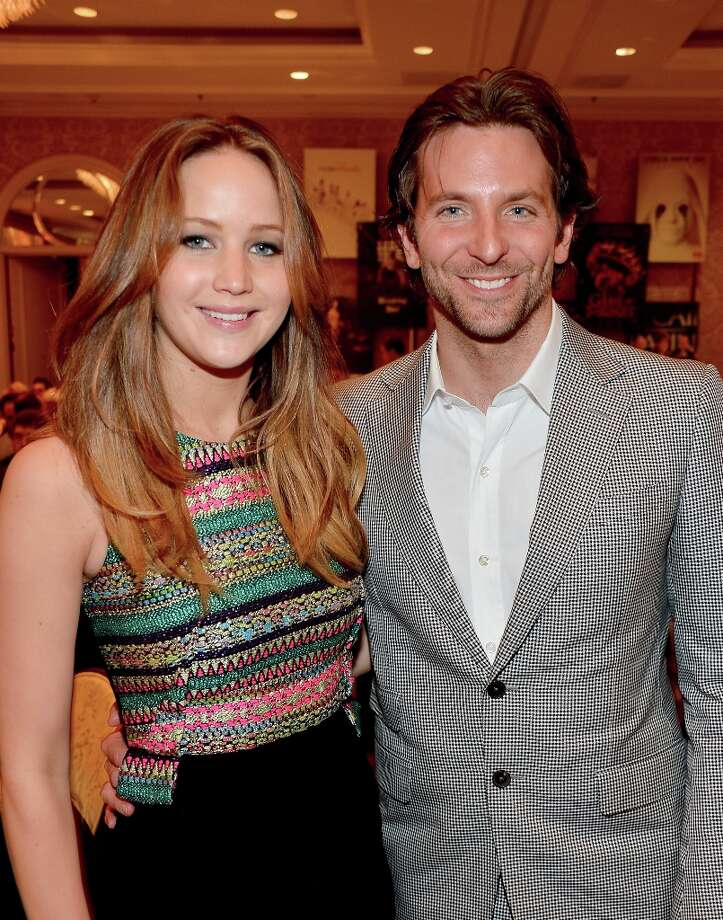 (L-R) Actors Jennifer Lawrence and Bradley Cooper attend the 13th Annual AFI Awards at Four Seasons Los Angeles at Beverly Hills on January 11, 2013 in Beverly Hills, California. Photo: Frazer Harrison, Getty Images / 2013 Getty Images