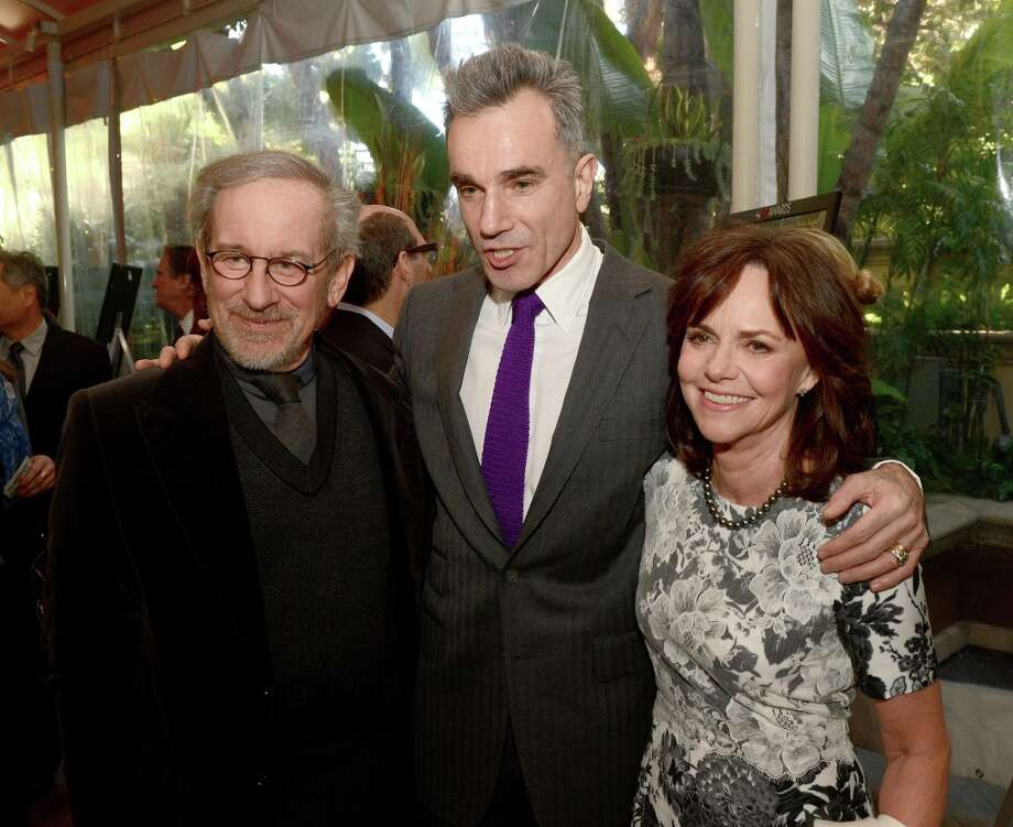 (L-R) Director Steven Spielberg, actors Daniel Day-Lewis, and Sally Field attend the 13th Annual AFI Awards at Four Seasons Los Angeles at Beverly Hills on January 11, 2013 in Beverly Hills, California. Photo: Kevin Winter, Getty Images / 2013 Getty Images