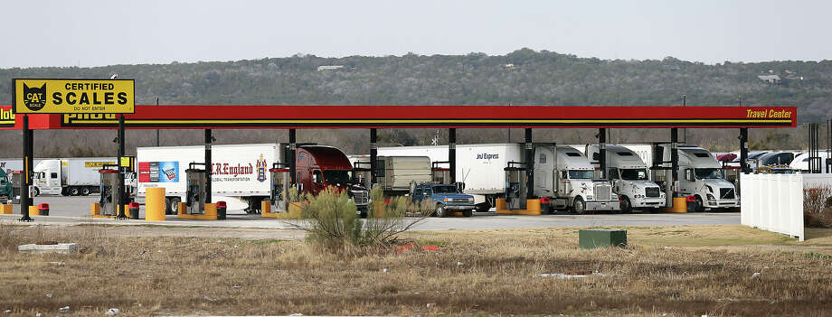 The Pilot truck stop in New Braunfels is nestled below the Hill Country just off IH35  on January 11, 2013. Photo: Tom Reel, San Antonio Express-News / ©2012 San Antono Express-News
