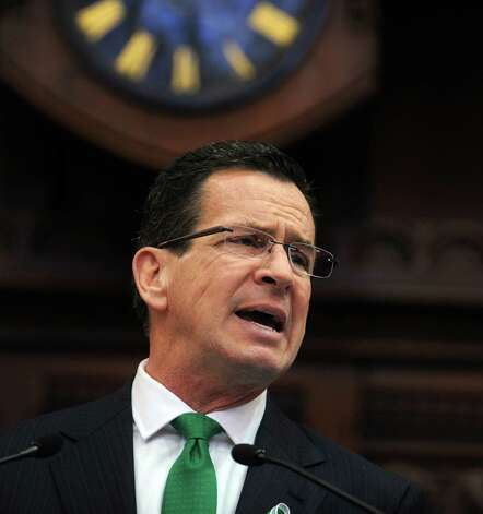 Gov. Dannel Malloy gives his 2013 State of the State Address Wednesday, Jan. 9, 2013 during opening day of the State Legislature at the Capitol Building in Hartford, Conn. Photo: Autumn Driscoll / Connecticut Post