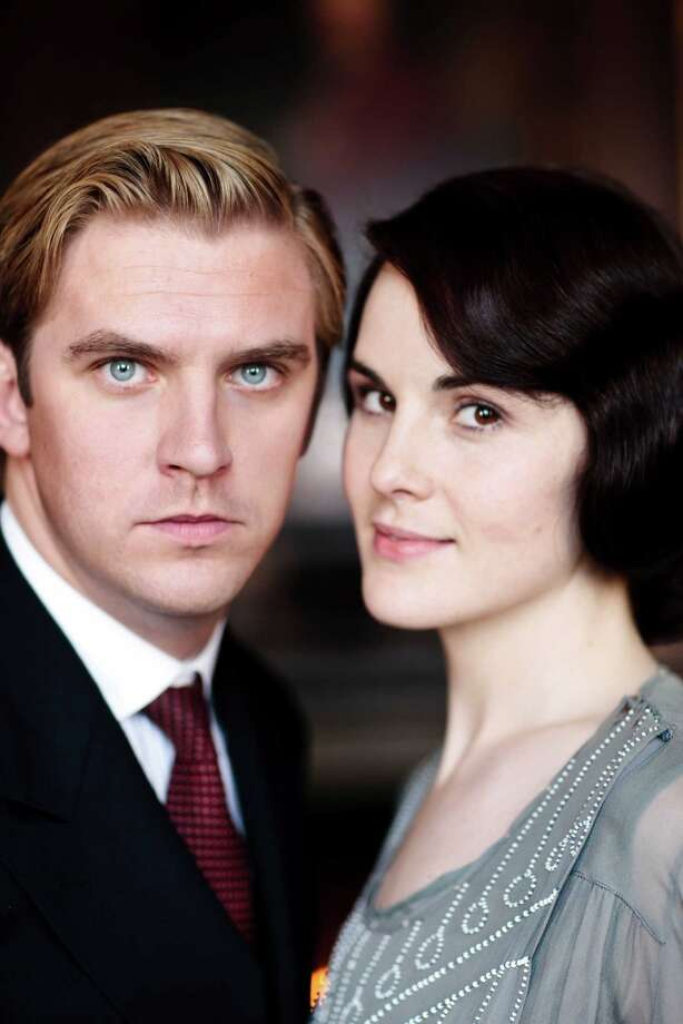 Dan Stevens, left, as the slightly tormented Matthew Crawley. (Carnival Film & Television Limited 2012 for MASTERPIECE). Photo: Photo Nick Briggs Nick@nickbrigg