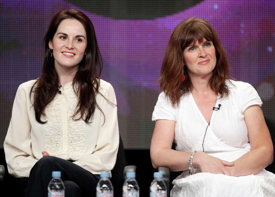 One of the more dramatic differences in appearance between life and TV is with Siobhan Finneran (R), the actress who normally looks like ...  Photo: Frederick M. Brown, Getty Images / 2011 Getty Images