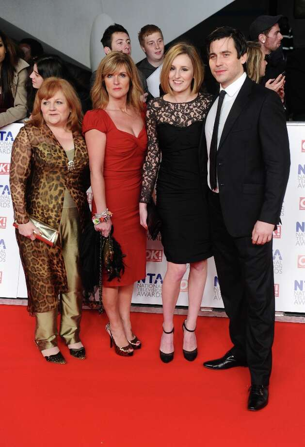 Check out O'Brien (Siobhan Finneran, second from left) in the red dress! She's with fellow actors Lesley Nicol (left), Laura Carmichael and Thomas Barrow (right) at London's National Television Awards in 2012. Photo: Ian Gavan, Getty Images / 2012 Getty Images
