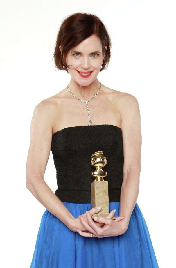 Elizabeth McGovern, with a 2012 Golden Globe, which 'Downton Abbey' won for best TV mini-series or movie. Photo: Christopher Polk, Getty Images / 2012 Getty Images