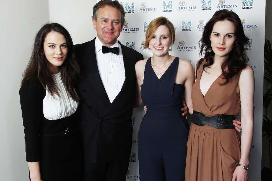 The actors behind the 'Crawley' family (L-R): Jessica Brown- Findlay, Hugh Bonneville, Laura Carmichael and Michelle Dockery.  Photo: Dave J Hogan, Getty Images / 2011 Getty Images