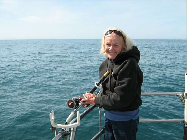 Jacqueline Douglas, 84, has taken an estimated 150,000 people fishing out the Golden Gate. Photo: Peter Ottesen, Courtesy Photo