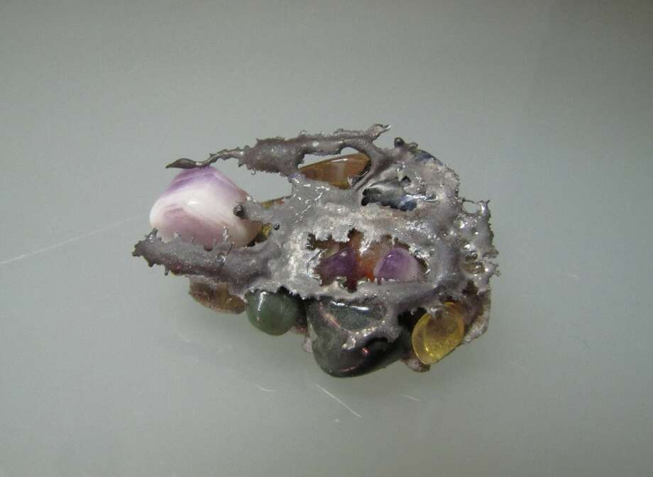 Stone and metal brooch, Kelly Murphy, $35