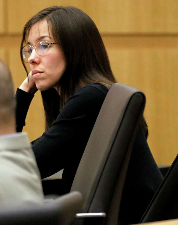 Jodi Arias appears for her trial in Maricopa County Superior court Wednesday in Phoenix. Arias is charged with murder in the death of her boyfriend, and prosecution is seeking the death penalty. The prosecution presented testimony Thursday aimed at proving Jodi Arias  is a pathological liar who plotted the murder of her ex-boyfriend,  30-year-old Travis Alexander. Photo: AP