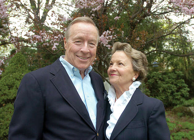 Stig Host and his wife Jeanne are shown here in 2004. Stig Host, an international oil and shipping executive, mutual fund director, recipient of the Daughters of the American Revolution's 2004 Americanism Medal and a champion of the environment, died Jan. 9 at his Greenwich home. He was 86. Photo: Mel Greer, GT
