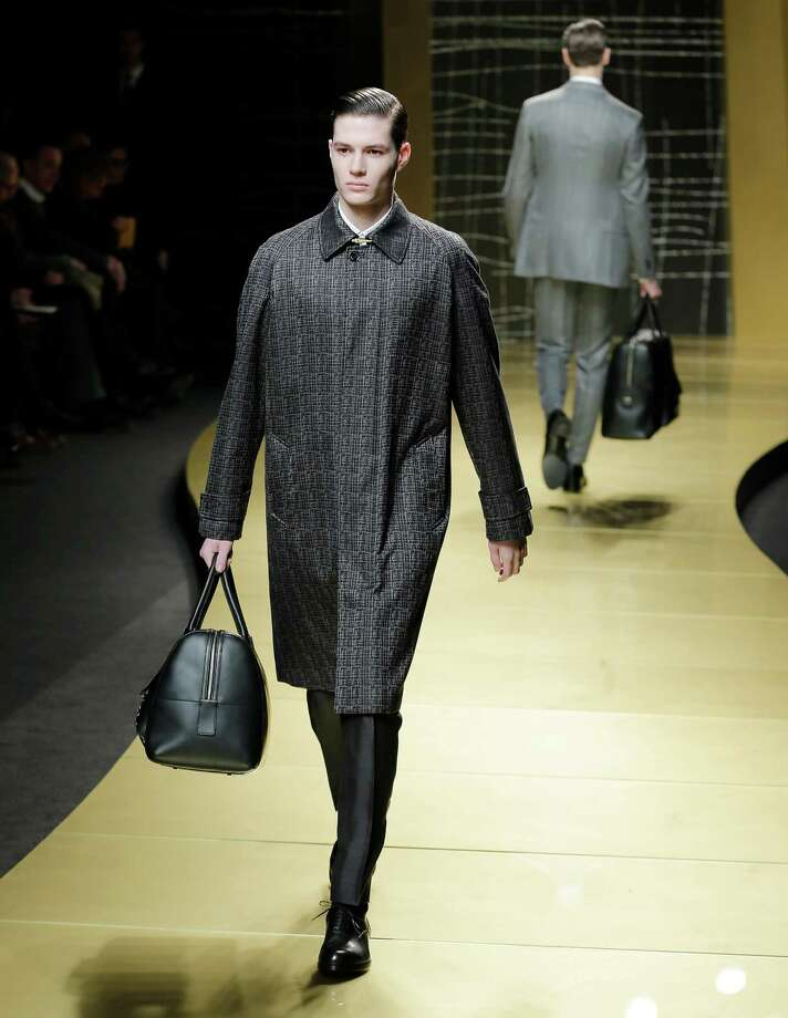 A model wears a creation of Ermenegildo Zegna men's Fall-Winter 2013-14 collection, part of the Milan Fashion Week, unveiled in Milan, Italy, Saturday, Jan. 12, 2013. (AP Photo/Antonio Calanni) Photo: Antonio Calanni / AP