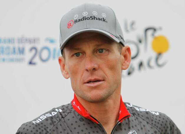 Lance Armstrong during the official presentation of the Tour de France cycling teams July 31, 2010 in Rotterdam, Netherlands.   (AP Photo/Laurent Rebours) Photo: Laurent Rebours, Associated Press / AP