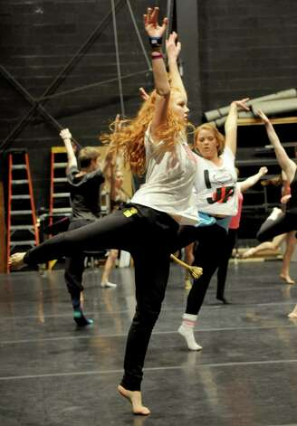 Emma Fichtner, 17, dances in Saturday's intermediate level master class during DanceFest at the Palace Theatre in Stamford on January 12, 2013. Photo: Lindsay Perry / Stamford Advocate