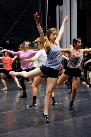 Sami Henn, 16, dances in Saturday's intermediate level master class during DanceFest at the Palace Theatre in Stamford on January 12, 2013. Photo: Lindsay Perry / Stamford Advocate