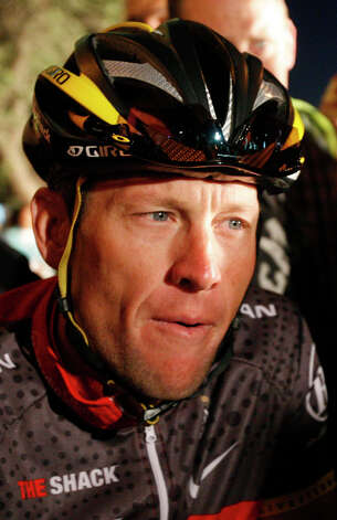 Lance Armstrong arriving at the start line of the Cape Argus Cycling race in Cape Town, South Africa on March 14, 2010.   (AP Photo/Schalk van Zuydam) Photo: Schalk Van Zuydam, Associated Press / AP2010